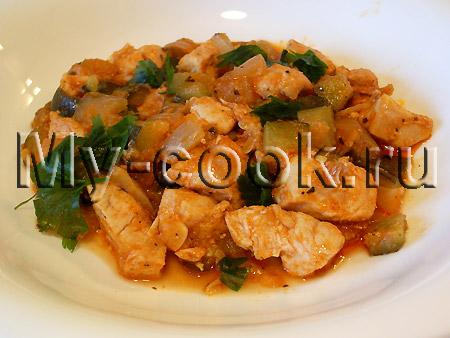 Филе курицы с кабачками или цукини