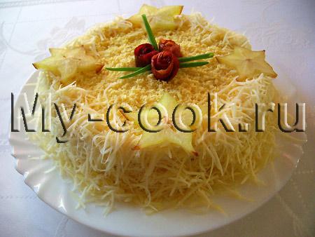 Салат – торт с сыром