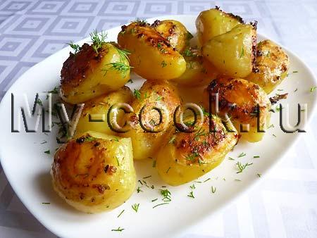 Ароматная картошечка с чесночком