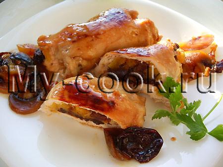 Куриные рулетики в медовом соусе