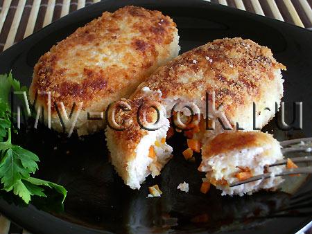 Зразы куриные с овощной начинкой