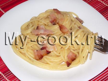 Спагетти под соусом карбонара