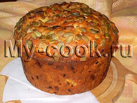 Тыквенный хлеб с луком