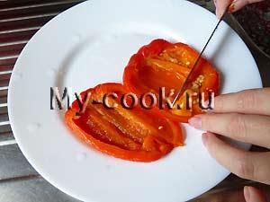 Маринованные печеные перцы