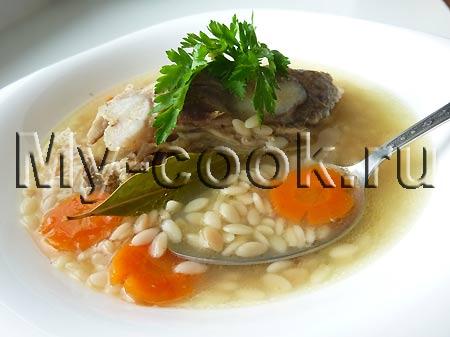 Египетский суп с макаронными изделиями Лисан асфур - Птичий язык