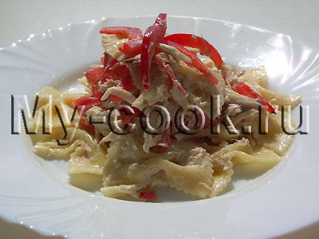 """Салат с макаронными изделиями """"Миланский"""""""