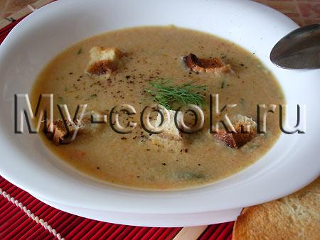 Суп- пюре из курицы или кролика