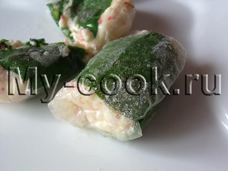 Конвертики из рисовой бумаги с пикантной начинкой