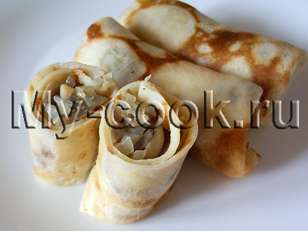 Блинчики с грибной начинкой