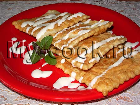 Хрустящие пирожки равиоли с грушами
