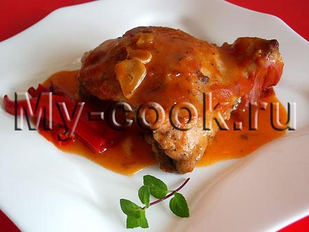 Курица, запеченная в томатном соусе