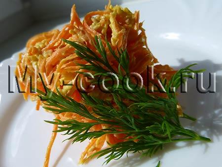 Легкий морковный салат