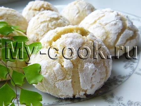 Рассыпчатое лимонное печенье