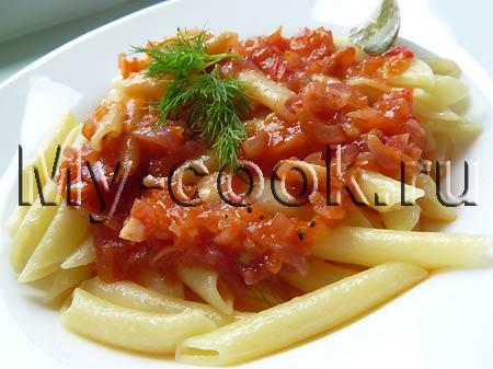 Пенне (перья) с домашним томатным соусом