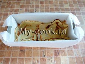 Блинный пирог с тремя начинками