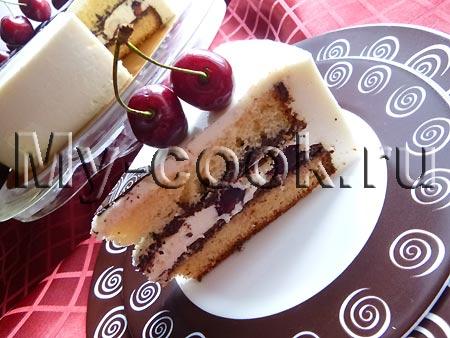 Летний торт с черешней