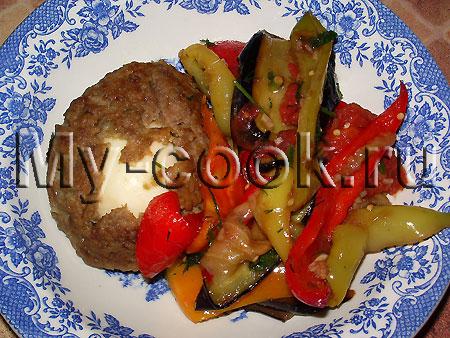 Ласточкино гнездо с жареными овощами