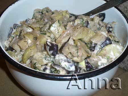 Соте из кабачков и баклажанов рецепт