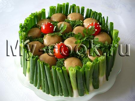 Салат полянка рецепт