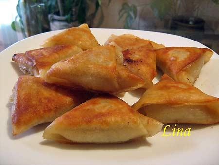 Блинчики треугольники с мясом рецепт